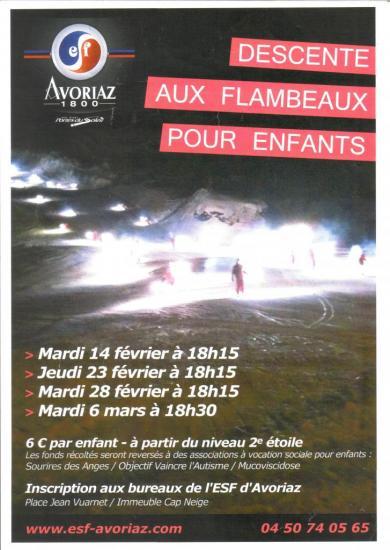 Affiche Descente aux Flambeaux
