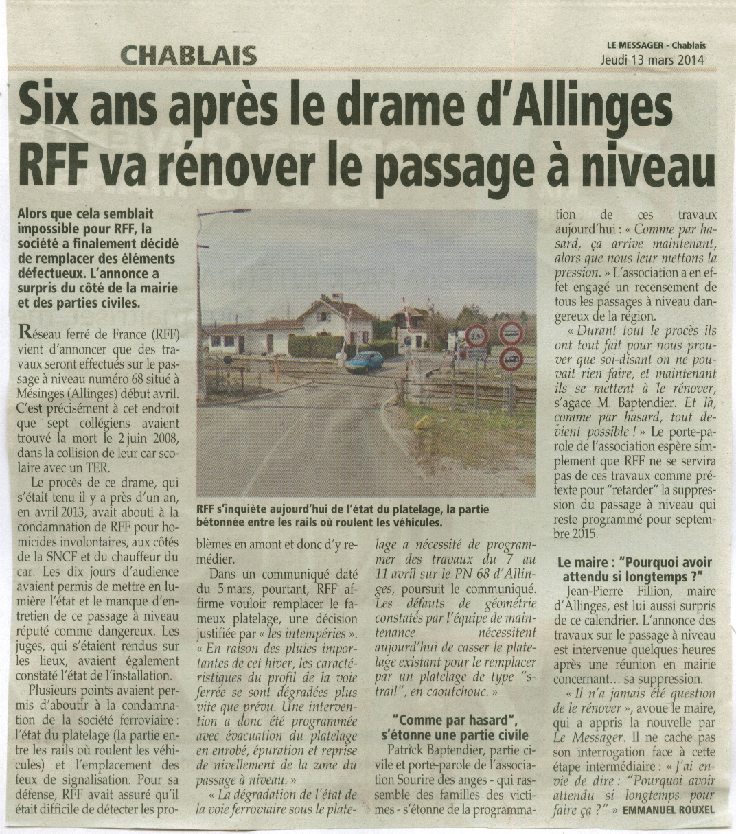 Article messager du 13 mars 2014 reparation du pn68